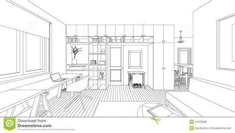 interior room sketch interior drawing stock vector illustration of light 57523206