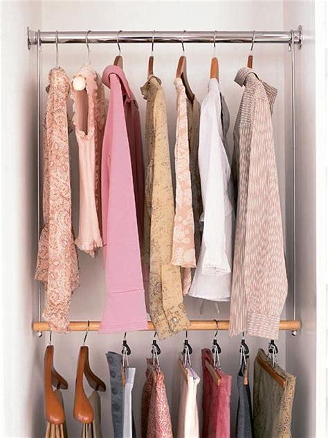 hanging closet rod 12 diy closet organization hacks frugal living for