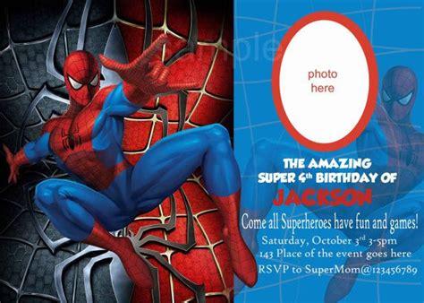 spiderman invitation spiderman birthday invitation