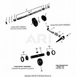 Troy Bilt 5151 Pony V Parts Diagram For Wheel Shaft