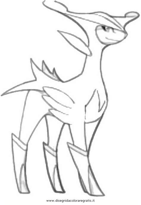 disegni da colorare viri disegno pokemon virizion personaggio cartone animato da