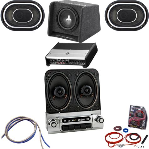 1953 54 chevy radio w speakers with bluetooth jl audio stereo kit 152314b jlpsk