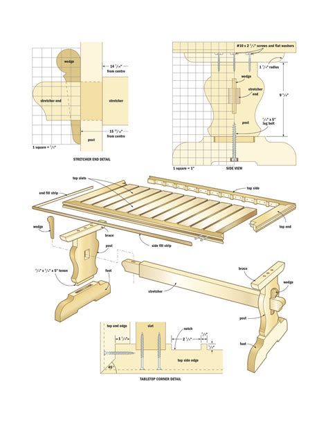 dining table construction plans free woodworking project plans pdf quick woodworking
