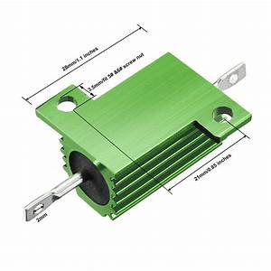 Industrial Electrical Uxcell 25w 39k Ohm 5  Aluminum