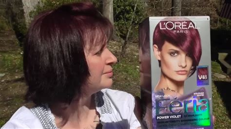 Feria Power Violet Intense Medium Violet V48 Hair