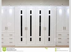 White Fitted Wardrobe Doors Stock Image Image of fitted