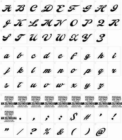 Indiana Fonte Script Fontmeme Font Fonts Map