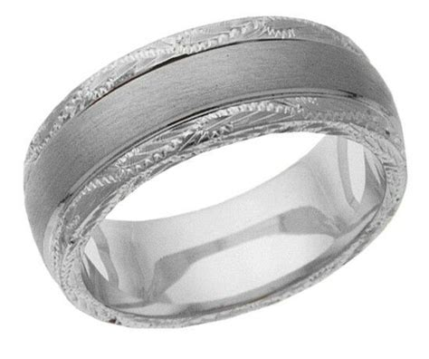 platinum 14k 10k 18k silver white gold wedding band ring engraved mens 6mm ebay