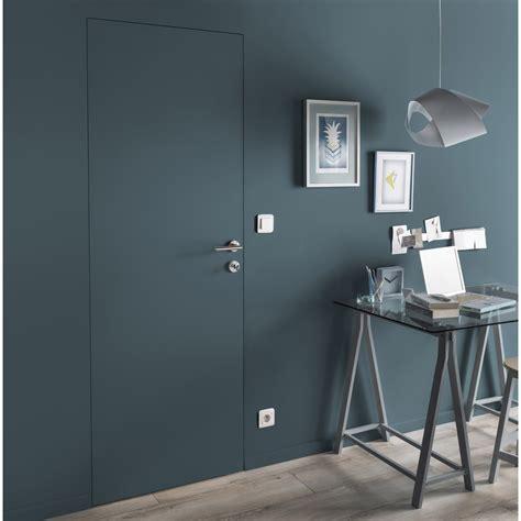 bloc porte cuisine bloc porte invisible valse blanc h 204 x l 73 cm poussant