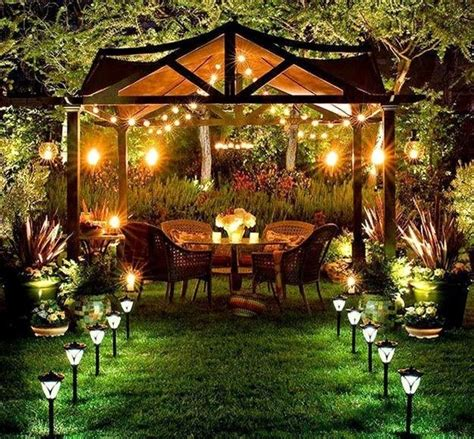 Backyard Decor by Decorating With Outdoor Lights To Romanticize Backyard Designs