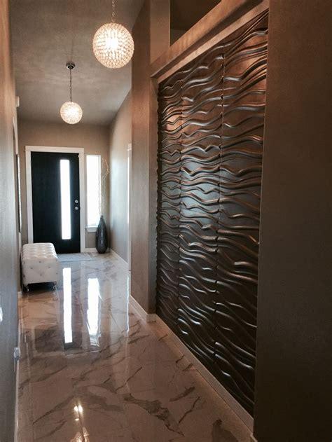 wall panels  hallway  metallic memories paint