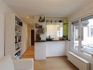 creer une cuisine ouverte dans un petit appartement With creer une cuisine ouverte