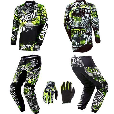 cheap motocross gear for kids o neal element attack motocross mx gear jersey pants