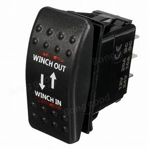 12v 7-pin 20a Winch In  Out On-off-on Arb Rocker Switch Car Boat 4 Colors Led Sale