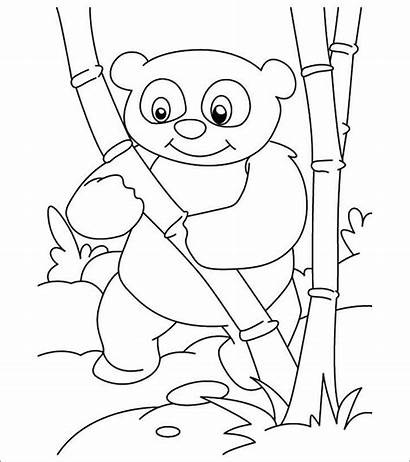 Panda Coloring Mewarnai Printable Bear Gambar Hewan