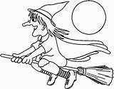 Coloring Witch Ages Witches sketch template