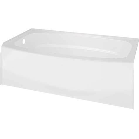 home depot 54x27 bathtub delta classic 400 curve 5 ft left drain soaking tub in
