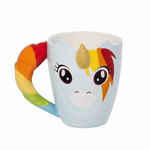 Tasse à Thé Originale : mug licorne arc en ciel pour th caf avec corne en c ramique sur logeekdesign ~ Teatrodelosmanantiales.com Idées de Décoration