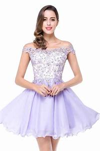 Popular Lavender Short Lace Prom Dress-Buy Cheap Lavender ...