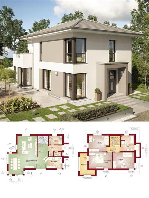 Moderne Häuser Mit Walmdach by Stadtvilla Modern Mit Walmdach Und Erker Anbau Grundriss