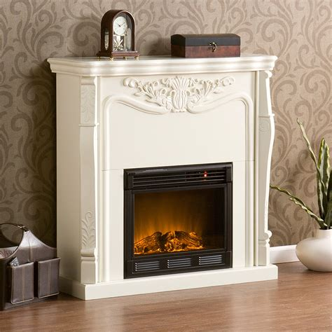 electric fireplaces clearance clearance indoor electric fireplace ivory white fa5655e ebay