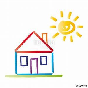 Haus Strichzeichnung Einfach : buntes haus mit satteldach sonne vektor abstrakt stockfotos und lizenzfreie vektoren auf ~ Watch28wear.com Haus und Dekorationen
