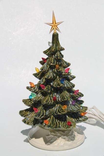 retro ceramic christmas tree lighted electric tabletop