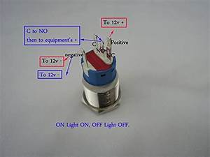 Amazon Com  New 12v 5a 12v 19mm Blue Led Momentary Push