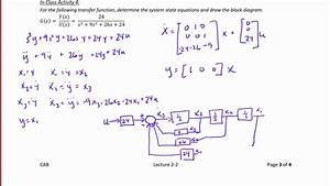 Ece320 Lecture2-2b  State Equation Solutions  U0026 Transfer Functions