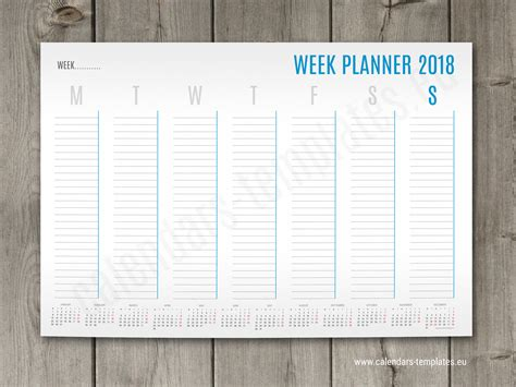 weekly planner template  small yearly calendar