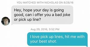 Cheesy Pick Up Lines dirty tinder