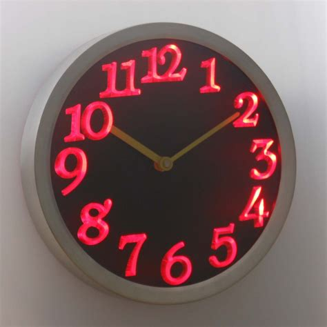 led neon light wall clock save up some energy with the use of led light wall clocks