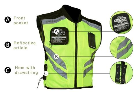 Adventure Touring Motorcycle Safety Vest Reflector Summer