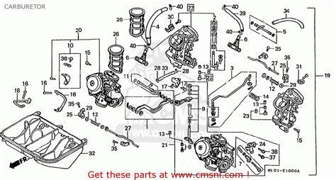 honda vfr400rii nc24 100 1987 h japan carburetor