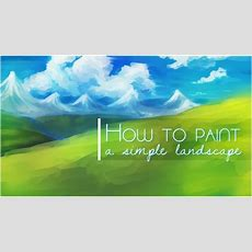 How To Paint A Simple Landscape Background In Sai (turn On