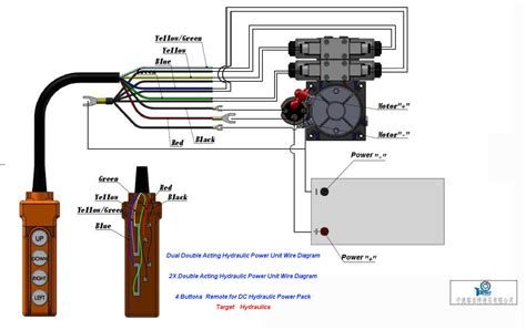 wire hydraulic power packpower unit diagram design