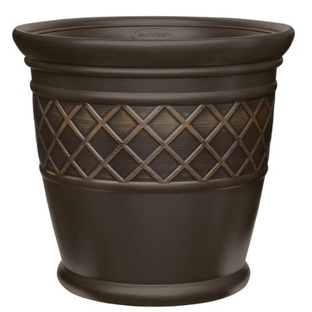 better homes and gardens planters better homes and gardens 22 quot lattice planter walmart