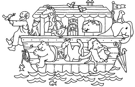 ark templates free children coloring pages of noah ark animals template the color panda