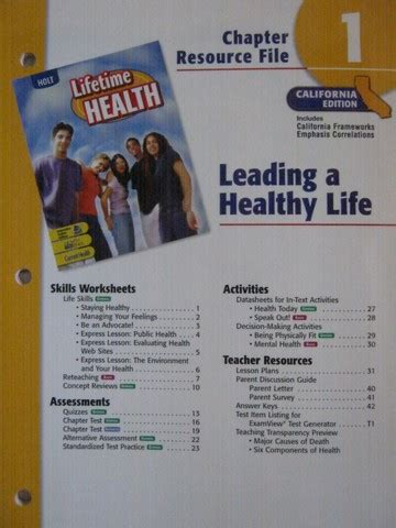 lifetime health chapter resource file  cap