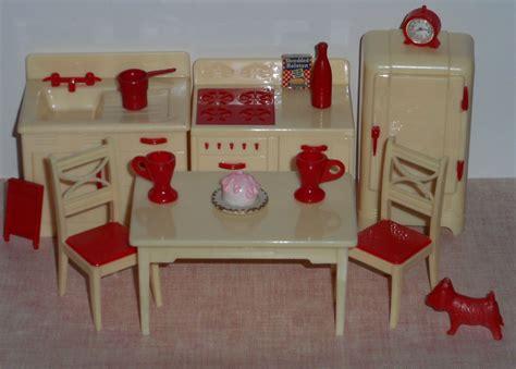 kitchen furniture accessories vintage renwal 3 4 quot plastic dollhouse kitchen furniture