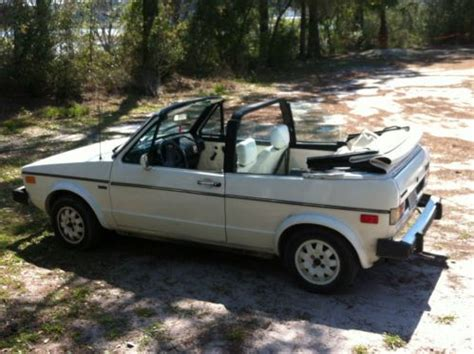 old volkswagen rabbit convertible for sale sell new 1983 vw rabbit white convertible not running