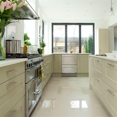 modern white  pale green kitchen kitchen decorating