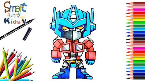 draw optimus prime transformers painting