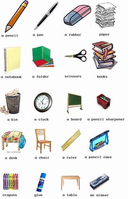 Objects Clipart Classroom Spanish Clip Library Vocabulary