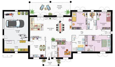 prix maison plain pied 3 chambres maison contemporaine 1 dé du plan de maison