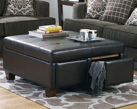 black leather ottoman coffee table black leather ottoman coffee table coffee table design ideas