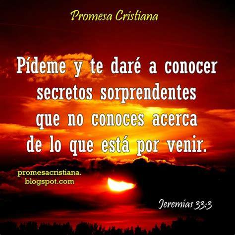 Promesa Cristiana Pídeme y te daré a conocer secretos