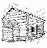 Coloring Pages Cabin Log Printable Lincoln Clipart Adults Bing Sheet Sheets Books Popular Coloringhome Library Hut sketch template