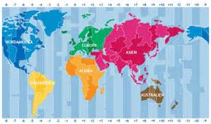 Time Zone Map Difference Between Countries