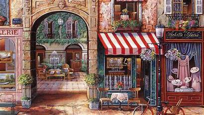 Cafe Paris Painting Wallpapers Desktop Wallpapersafari French